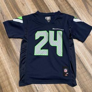 Seattle Seahawks Marshawn Lynch Jersey kid M 10-12